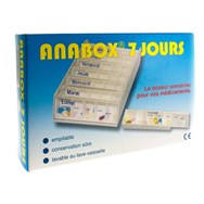 Anabox Pilulier Blanc 7 Jours