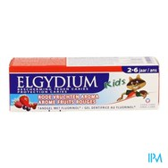 Elgydium Kids Tandp 2-6J Rode Vrucht.Z/Parab. 50Ml