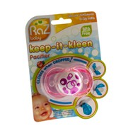 Raz Baby Keep It Clean Fopspeen Pink Circles