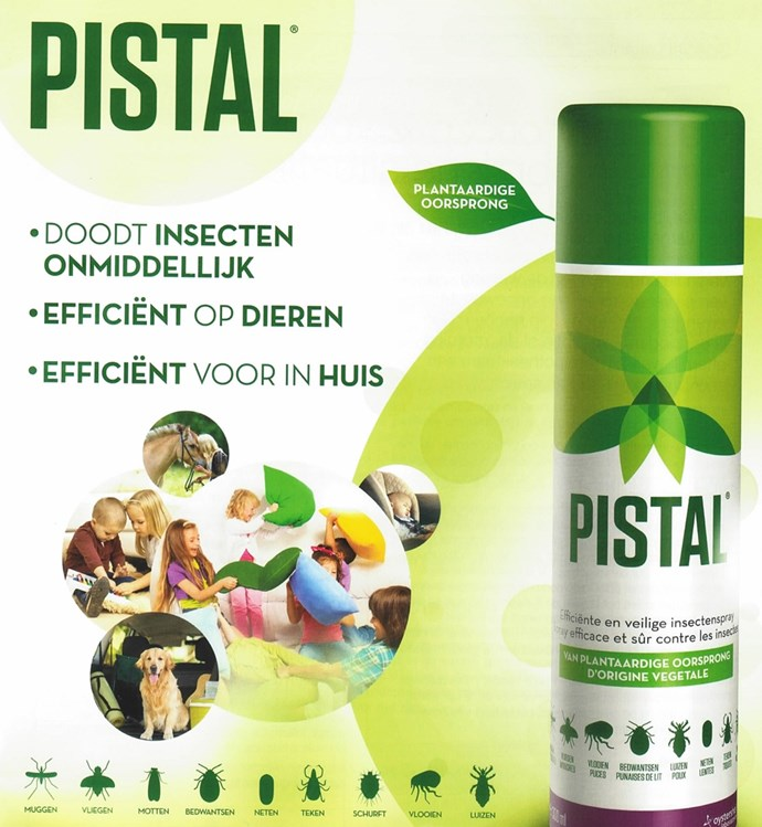 Pistal insect spray 150ml helpshop for Huisstofmijt spray